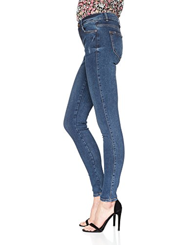 Denim Blue Jean Blue Medium Skinny Pieces Medium Bleu Denim Femme PdqWCY