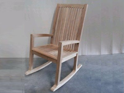 Atlanta Teak Furniture   Teak High Back Rocking Chair   Grade A