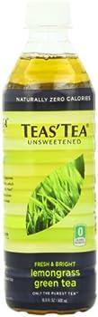 12-Pack Teas' Tea Unsweetened Lemongrass Green Tea, 16.9 Ounce