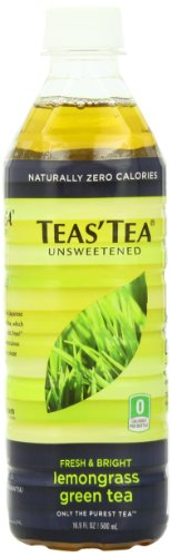 Teas' Tea Unsweetened Lemongrass Green Tea, 16.9 Ounce (Pack of 12)