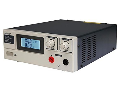 Velleman LABPS3020SM 20 A DC Lab Switching Power Supply Max with LCD Display, 240 V, Multi-Colour