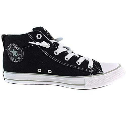 Converse Men's Street Canvas Mid Top Sneakers (Black/Phaeton Grey, 9 M US) ()