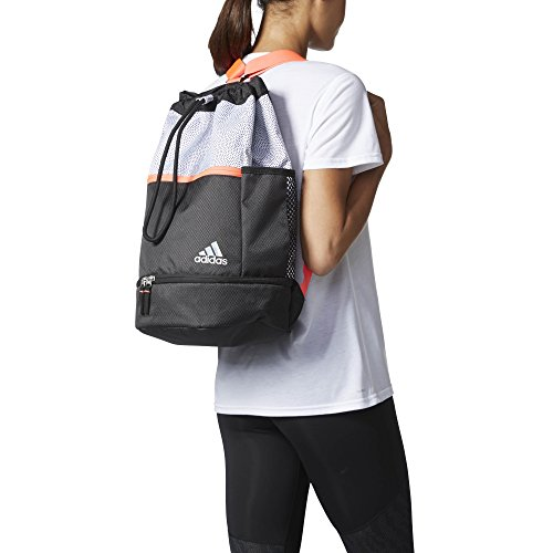 adidas Womens Squad Bucket Backpack, White Grip/Black/Luc...
