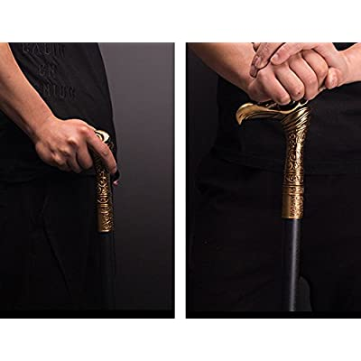 Gmasking 2020 Metal Syndicated Cosplay Cane 1:1 Exclusive Props Silver: Clothing