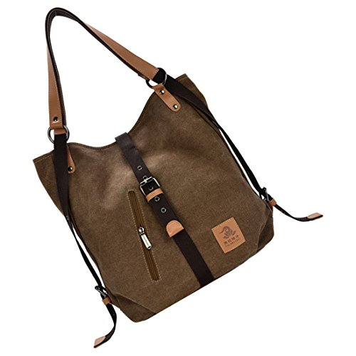 Fashion Canvas SODIAL Bag Casual Women Multifunctional Coffee Messenger R qwIrPIE