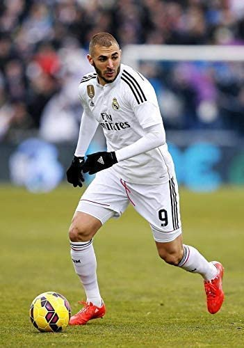 Desconocido Karim Benzema Real Madrid España la Liga Fútbol Póster 10960 (A3-A4-A5) - A4: Amazon.es: Hogar