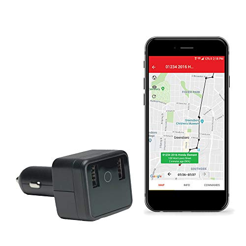 GPS Car Charger Tracker-USB Charger and Tracker with Live ()