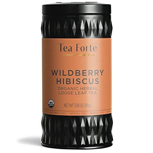 - Tea Forte Organic Herbal Tea WILD BERRY HIBISCUS (35-50 Cups) 3.88 Ounce Loose Leaf Tea Canister