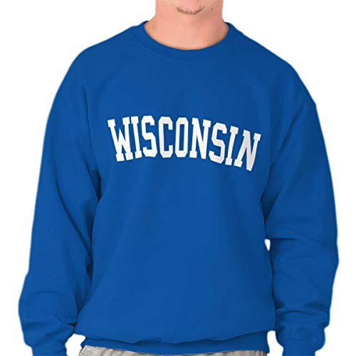 Wisconsin State Shirt Athletic Wear USA T Novelty Gift Ideas Sweatshirt