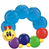 Advanced Play Soft Water Filled Rattle Ring Toy with Infant Teether Soother