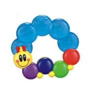 Advanced Play Baby soft water filled sensory rattle ring toy plus infant teether soother for teething babies