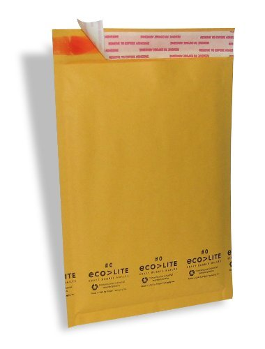 Polyair Eco-lite #0 ELSS0 Golden Kraft Self Seal Bubble Mailer, 6 1/2'' x 10'' (Case of 250) by Polyair