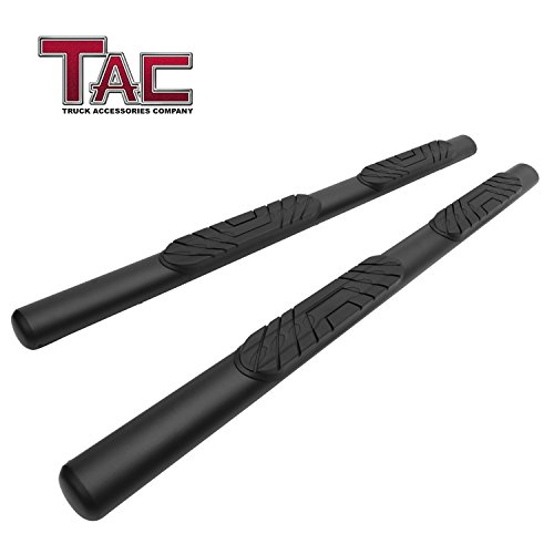 "TAC 4"" Side Steps Running Boards Fit 2019 Dodge Ram 1500 Crew Cab (Excl. 2019 Ram 1500 Classic)Truck Pickup Oval Texture Black Side Bars Step Rails Nerf Bars Off Road Exterior Accessories 2 Pieces"