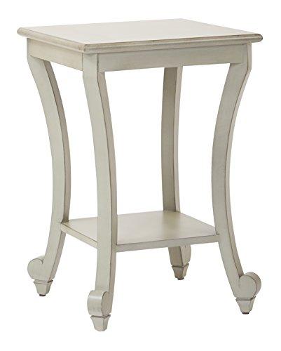 Office Star Daren Hand Painted Square Accent Table, Antique Grey (Painted Furniture Office)