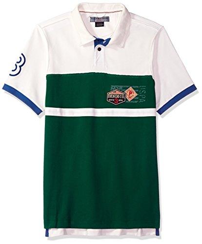 U.S. Polo Assn. Men's Short Sleeve Classic Fit Fancy Pique Polo Shirt, White Winter KHLL S