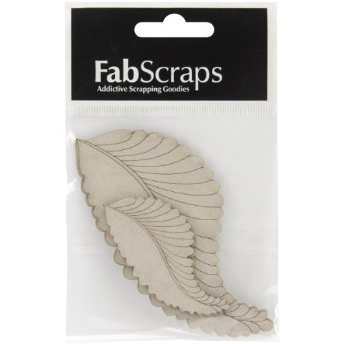 Collection Painted Brads (Fabscraps Die-Cut Grey Chipboard Embellishment, Feathers, 4.5 by)