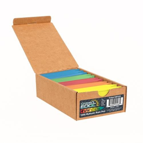 Grower's Edge Plant Stake Labels - Multicolor (1000/Box) by Grower's Edge