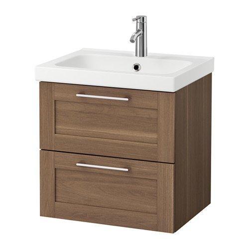 Ikea - Mueble de Lavabo con 2 cajones, Efecto Nogal 23 5/8 x 19 1 ...