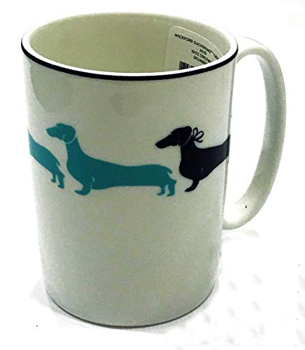 (Kate Spade New York Wickford Dachshund Turquoise Accent Mug)