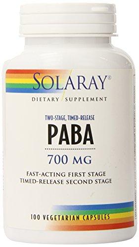Solaray Paba TSTR Vitamin Capsules, 700 mg, 100 Count For Sale