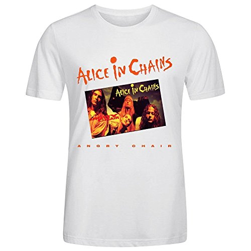 Price comparison product image Alice In Chains Angry Chair Design Your Own T Shirts Mens Round Neck White