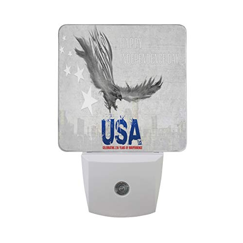Night Light Marvellous Independence Day Wallpaper Led Light Lamp for Hallway, Kitchen, Bathroom, Bedroom, Stairs, DaylightWhite, Bedroom, Compact