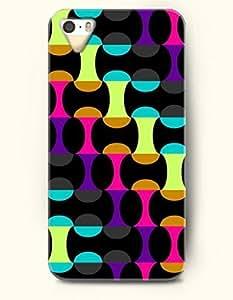 Phone Case For Iphone 5C Cover Aqua Yellow Magenta Purple Geometric MagHard Back Plastic Case / Geometric Pattern / OOFIT Authentic