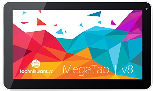 MegaTAB V2V8 OctaCore 10,1 Zoll 32 GB (1GB2GB RAM, Octa-Core CPU 8x 2.0 GHz, Android 5.1, HDMI, 2x Kamera, WLAN Tablet-PC) Technikware