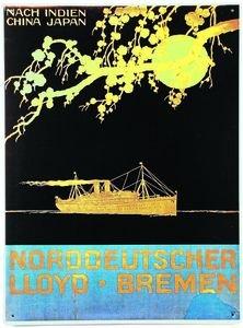 1591. Cartel Art Deco Después de la India: Amazon.es ...