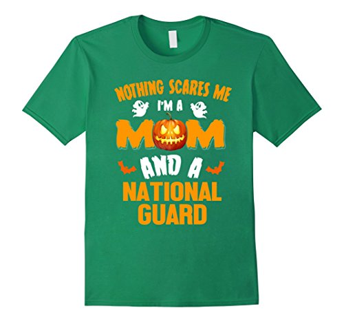 Mens Mom And NATIONAL GUARD Halloween Costume Job Shirt Large Kelly Green (Usa National Costume For Men)