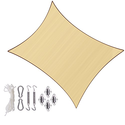 Sunlax 13' x 20' Sand Color Rectangle UV Block Sun Shade Sai