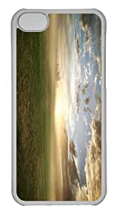 designer covers foggy grassland PC Transparent case for iphone 5C