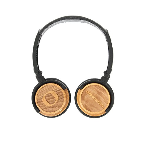 (BiGR Audio Oregon Ducks On-The-Ear Stereo Headphones - 3.5mm Plug, Wooden Earcups)