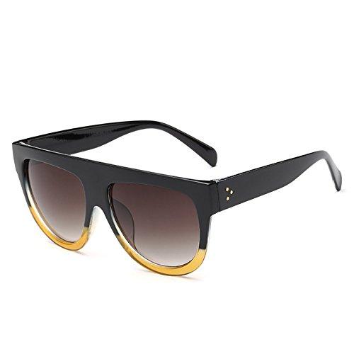 BlackYellow Vintage Uv Frame G De 9 Hombre Viajes Gradiente Unas Gafas C2 Enormes Leopardblack362 Sol TIANLIANG04 Mujer De Bastidor Sol Gafas Tonos UqBR0nw41x