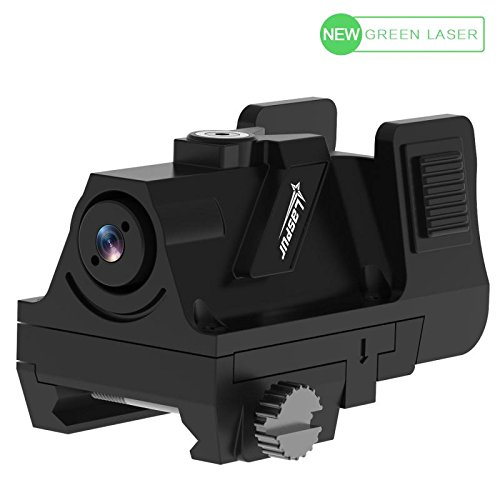 Laspur Tactical Mini Sub compact Low Profile Green Dot Laser Sight with Rail Picatinny and Adjustable Windage Elevation for Pistol,Air gun,Handgun,Rifle, gift with Recharge Battery and Charger