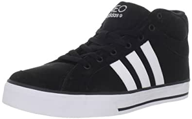 adidas Men's Vulc Mid Lace-Up Fashion Sneaker,Black/White,12 M US