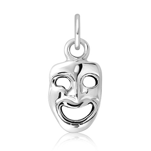 (WithLoveSilver Sterling Silver 925 New Orleans Mardi Gras Smile Face Drama Mask)