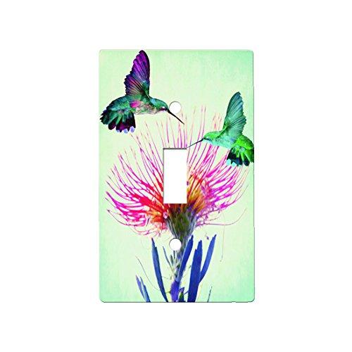 Hummingbird Beauty - Decor Single Switch Plate Cover Metal (Single)