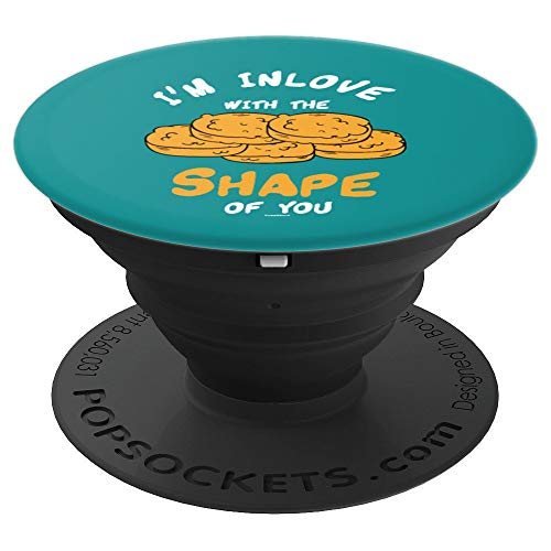 I'm In Love With The Shape Chicken Nuggets Gift - PopSockets Grip and Stand for Phones and Tablets