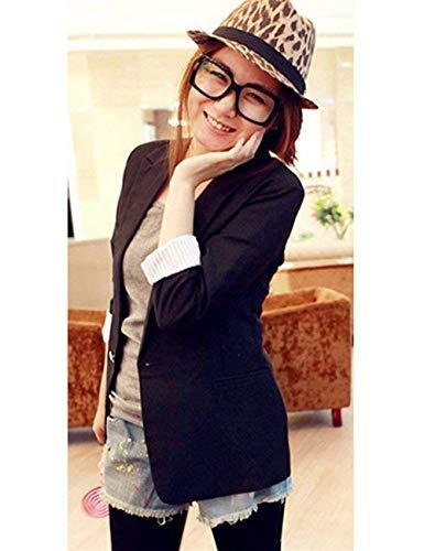 Sudore Fashion Tasche Donna Da Monocromo Fit Button Con Manica Primaverile Elegante Lunga Classiche Tailleur Slim Giacche Pink Vintage Autunno Blazer Giacca vB5qZwZ