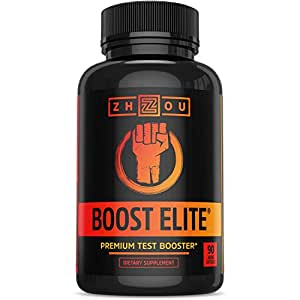 BOOST ELITE Test Booster Formulated to Increase T-Levels, Vitality & Energy - 9 Powerful Ingredients Including Tribulus, Fenugreek, Yohimbe, Maca & Tongkat Ali, 90 Veggie Caps