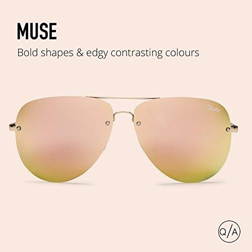 e39f6d00229 Quay Australia MUSE Women s Sunglasses Aviator w Mirrored - Import It All
