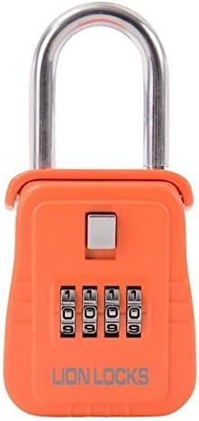 Lion Locks 1500 Key Storage Lock Box With Set Your Own Combination Orange Amazon Com