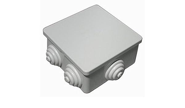 Caja derivación hermética IP44 cm 8 x 8 x 4 mm 80 x 80 x 40 unidades de 60pz: Amazon.es: Oficina y papelería
