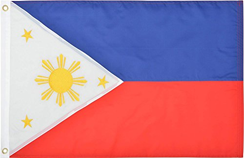 Cheap Green Grove Products Philippines Flag 2′ x 3′ Ft 210D Nylon Premium Outdoor Embroidered Filipino Flag