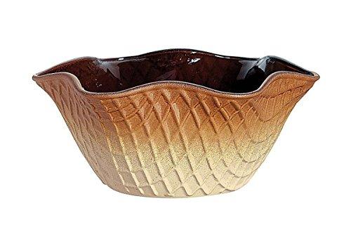 Bormioli Glass Bowls - Bormioli Rocco Croque Color Sprayed Glass Waffle Ice Cream Bowl, Set of 6