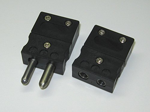 - Standard J-Type Connector Set Pair Male & Female for J-type thermocouple extension wire