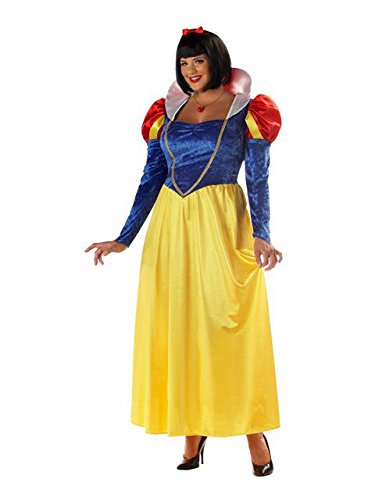 California Costumes Women's Plus-Size Snow White Plus, Blue/Yellow, 3X