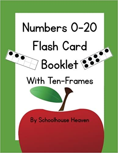Numbers 0-20 Flash Card Booklet: With Ten-Frames: Schoolhouse Heaven ...