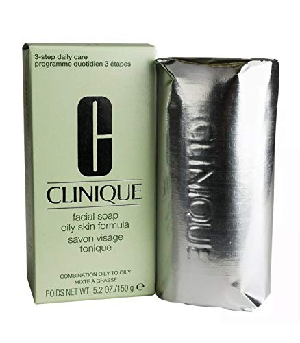 Clinique Facial Soap, Oily Skin Formula, 5 Ounce (Best Acne Soap For Oily Skin)